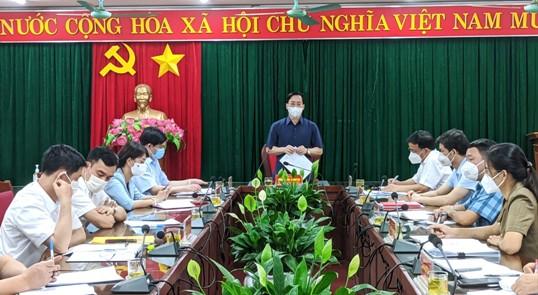 Đ.c Hoàng Văn Nghiệm, Phó bí thư Thường trực tỉnh uỷ, Chủ tịch HĐND tỉnh phát biểu tại buổi kiểm tra.jpg