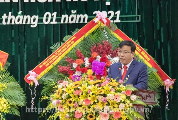 Đ.c Phan Hồng Tiến, Bí thư Huyện ủy thông qua Diễn văn buổi lễ.jpg