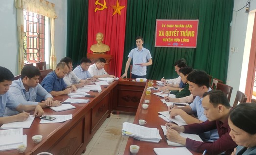 đ.c Sái Văn Đông, Phó Bí thư Thường trực Huyện ủy phát biểu kết luận tại buổi kiểm tra.jpg
