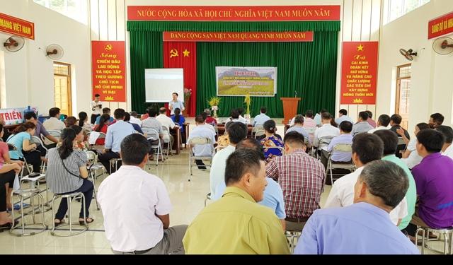 Hội nghị tổng kết mô hình lúa thuần J02 và QR15 tại xã Cai Kinh.jpg