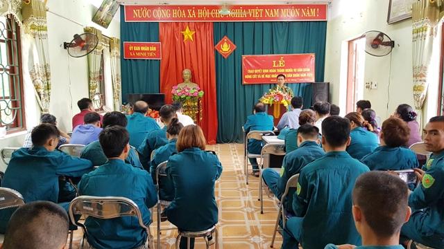 Lễ Bế mạc huấn luyện dân quân xã Minh Tiến năm 2020.jpg