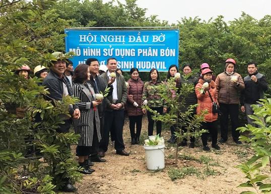 Tập huấn sử dụng phân hữu cơ chăm sóc cây ăn quả cho người dân xã Cai kinh.jpg