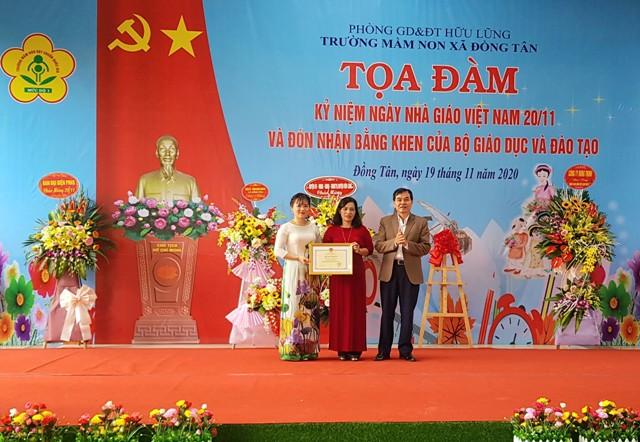 trường MN xã Đồng Tân đón nhận Bằng khen của Bộ GD ĐT .jpg